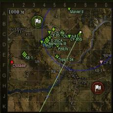 позиция на карте