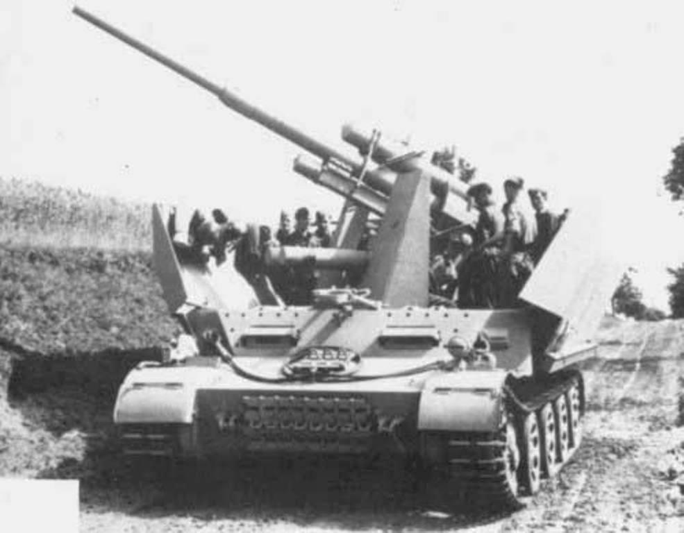 зенитка с 88 на шасси танка